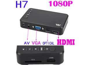 H7 HDD 1080P Full HDMI Player F10 HD Media Player With VGA AV USB SD for Video Music Play Photo