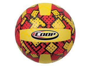 COOP Hydro Volleyball Waterproof Volleyball for Beach or Pools - Checkered Red