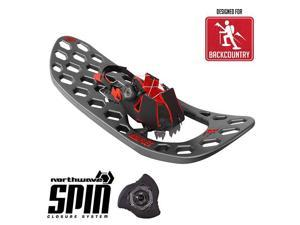 Yukon Charlie's Carbon Flex Spin Snowshoes - 1 size for all - Black & Red