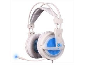 SADES A6 3.5mm Headphone Plug Breathing Light Gaming Headphone Headset USB Computer Headset 7.1 electric blue headset