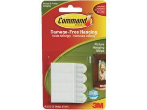 3M 17202 Command Small Picture Hanging Strips White 4 sets/pk, 27 pk/case