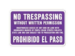 10X14 NO TRESPASS SIGN SS-50