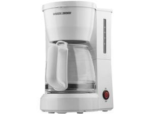 Black & Decker DCM600W 5-Cup Coffeemaker, White