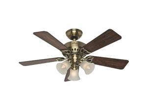 53078 42 in. Beacon Hill Antique Brass Ceiling Fan with Light