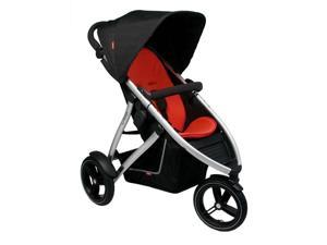 Phil & Teds Vibe Stroller - Black/Red