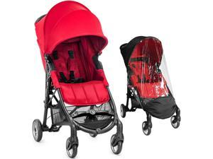 Baby Jogger City Mini ZIP Stroller With Weather Shield - Red