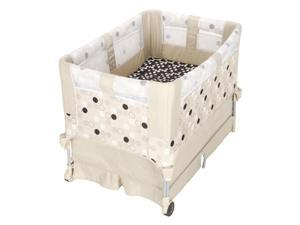 The First Years Up 'N Down Play Yard, Black and Khaki