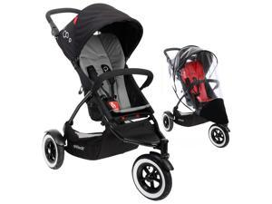 Phil & Teds DOT Stroller With Weather Cover - Flint
