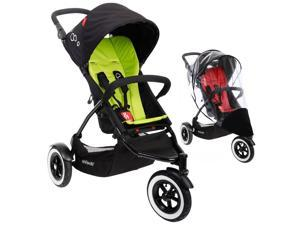 Phil & Teds DOT Stroller With Weather Cover - Apple