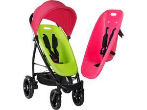 Phil&Teds Smart Stroller - Lime/Hot Pink