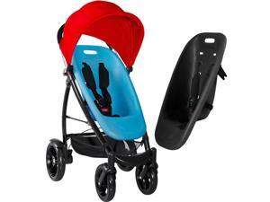 Phil&Teds Smart Stroller - Bubblegum Blue/Licorice/Raspberry Red