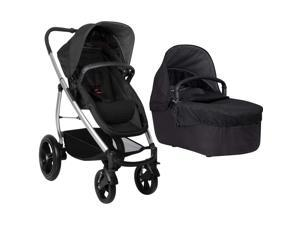 Phil & Teds Smart Lux Stroller With CarryCot - Black