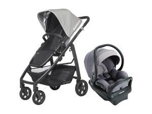 UPPAbaby Cruz Stroller With Mico Max 30 Infant Car Seat - Pascal/Grey Gravel