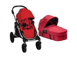 Baby Jogger City Select Stroller With Bassinet Kit - Ruby/Red