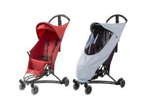 Quinny Yezz Stroller With Weathershield, Red Rumor