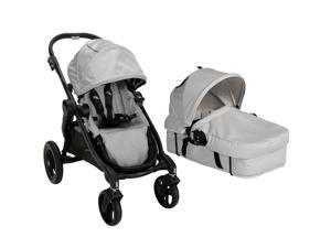 Baby Jogger City Select Stroller With Bassinet Kit - Silver/Diamond