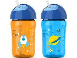Philips Avent My Twist N Sip Straw Cup - Blue/Orange