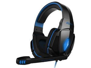 EACH G4000 Pro Game Gaming Headset 3.5mm LED Stereo PC Headphone with Microphone Blue