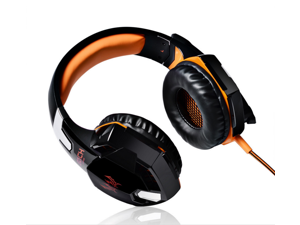New G2000 Gaming Headphone Headset Stereo KOTION EACH Over-ear with Mic for PC Orange