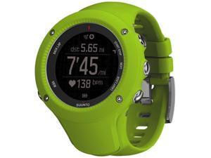 Suunto SS021260000 Ambit3 Run Lime Digital Display Quartz Watch, Lime Silicone Band, Round 50mm Case