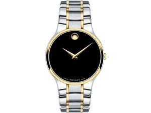 Movado 0606901 Serio Analog Display Quartz Watch, Two-Tone Stainless Steel Band, Round 38mm Case