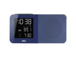 Braun BNC010BL-RC LCD Display Radio Alarm Quartz Clock, Rectangle 160mm Case, Blue