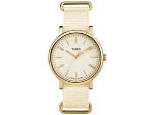 Timex TW2P88800 Originals Tonal Women's Analog Display Quartz Watch, Cream Nylon Band, Round 38mm Case