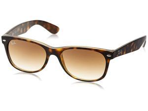 New Ray-Ban 0RB2132 710/51 Wayfarer Sunglasses, Light Havana Frame, Crystal Brown Gradient Lens 55mm Lenses