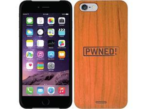 Coveroo Apple iPhone 6/6s Wood Thinshield Case with PWNED!, Laser Engraved Design