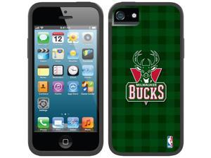 Coveroo iPhone 5/5S Black Switchback Case with Milwaukee Bucks Plaid Print Design