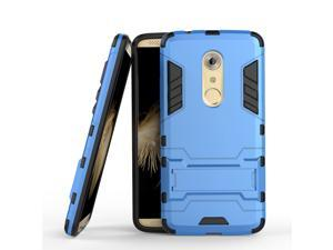 Olen Armor Series ZTE AXON 7 Case TPU and PC 2 in 1 Kickstand Protective Cover Finish Case for ZTE AXON 7 (Blue)