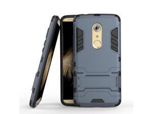 Olen Armor Series ZTE AXON 7 Case TPU and PC 2 in 1 Kickstand Protective Cover Finish Case for ZTE AXON 7 (BlueBlack)
