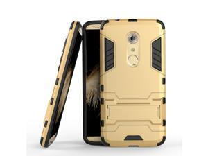 Olen Armor Series ZTE AXON 7 Case TPU and PC 2 in 1 Kickstand Protective Cover Finish Case for ZTE AXON 7 (Gold)