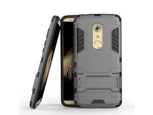 Olen Armor Series ZTE AXON 7 Case TPU and PC 2 in 1 Kickstand Protective Cover Finish Case for ZTE AXON 7 (Gray)