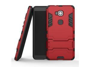 Olen Huawei Mate 8 Case TPU and PC 2 in 1 Kickstand Protective Cover Finish Case for Huawei Mate 8 Red