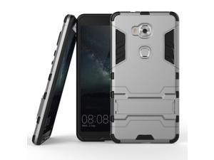 Olen Huawei Honor 5X Case TPU and PC 2 in 1 Kickstand Protective Cover Finish Case for Huawei Honor 5X case Gray