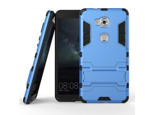 Olen Huawei Honor 5X Case TPU and PC 2 in 1 Kickstand Protective Cover Finish Case for Huawei Honor 5X case Blue