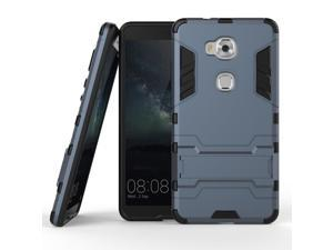 Olen Huawei Honor 5X Case TPU and PC 2 in 1 Kickstand Protective Cover Finish Case for Huawei Honor 5X case Blue-Black