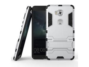 Olen Huawei Honor 5X Case TPU and PC 2 in 1 Kickstand Protective Cover Finish Case for Huawei Honor 5X case Silver