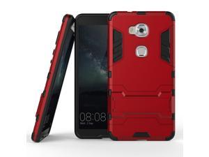 Olen Huawei Honor 5X Case TPU and PC 2 in 1 Kickstand Protective Cover Finish Case for Huawei Honor 5X case Red