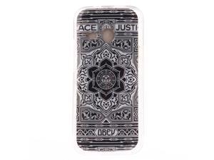 MOONCASE HTC One M8 Mini Case Stylish Pattern Soft Gel TPU Silicone Skin Slim Durable Case Cover for HTC One M8 Mini -TX03