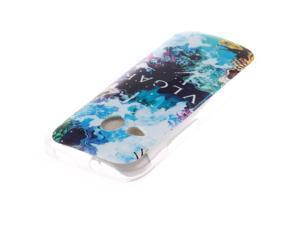 MOONCASE HTC One M8 Mini Case Stylish Pattern Soft Gel TPU Silicone Skin Slim Durable Case Cover for HTC One M8 Mini -TX16