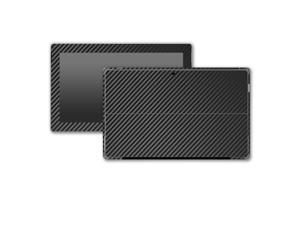 Black Carbon Fiber Microsoft Surface Pro 3 Skin/Stickers/Decal Stickerboy- Front, Back, Sides (2 complete side wraps), Type Cover Keyboard & Bottom