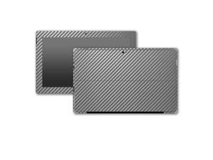 Graphite Carbon Fiber Microsoft Surface Pro 3 Skin/Stickers/Decal Stickerboy- Front, Back, Sides (2 complete side wraps), Type Cover Keyboard & Bottom