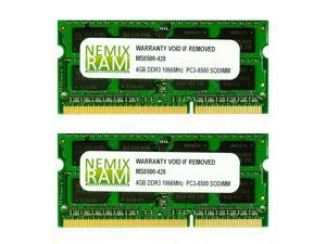 NEMIX RAM 8GB (2 X 4GB) DDR3 PC3-8500 SODIMM Memory for Apple MacBook / MacBook Pro 2008-2010