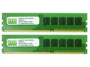 NEMIX RAM 16GB (2 x 8GB) DDR3-1066MHz PC3-8500 240-pin 2.5V 2Rx8 ECC Unbuffered Workstation/Server Memory Module