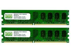 NEMIX RAM 4GB (2 X 2GB) DDR2 533MHz PC2-4200 240-pin DIMM Desktop PC Memory