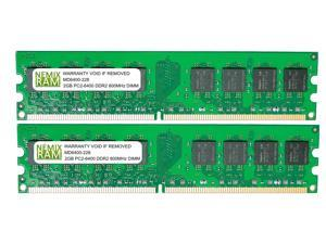 4GB (2 X 2GB) DDR2 800MHz PC2-6400 240-pin Memory RAM DIMM for Desktop PC