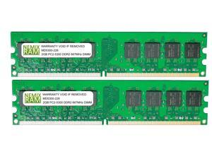 4GB (2 X 2GB) DDR2 667MHz PC2-5300 240-pin Memory RAM DIMM for Desktop PC