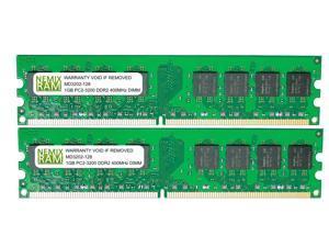 NEMIX RAM 2GB (2 X 1GB) DDR2 400MHz PC2-3200 240-pin DIMM Desktop PC Memory